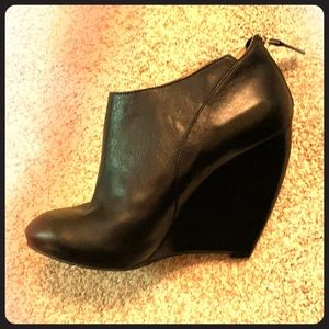 Nine West Wedge Booties